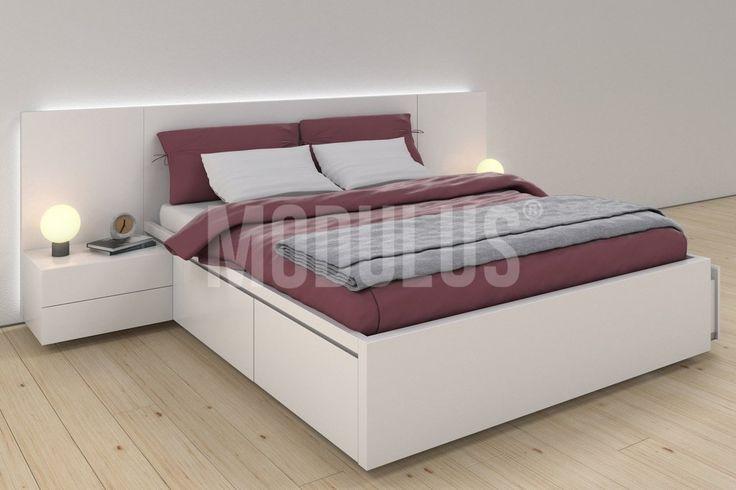 Juego de Dormitorio, laqueado, diseño moderno, minimalista