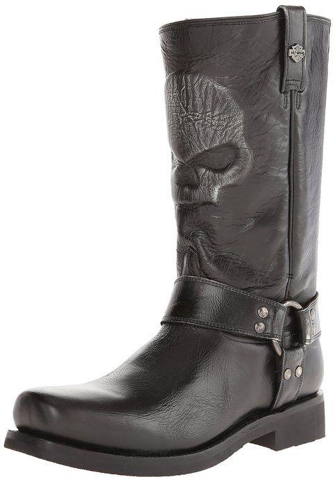 Harley-Davidson Men's Quentin Motorcylce Harness Boot, Black, 13 M US $194.30 http://skullcart.com/harley-davidson-mens-quentin-motorcycle-harness-skull-boots/ #skull #boots #skullcart