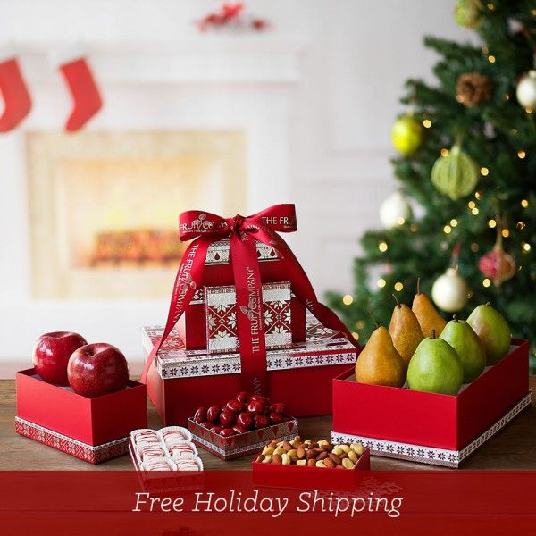 Best Food Gifts To Send For Christmas Part - 37: The Fruit Company Holiday Gift Tower Is Hands Down The Best Food Gift For  The Holiday Season. Perfect For Company Gifting, Hostess Gifts, And To Send  To ...