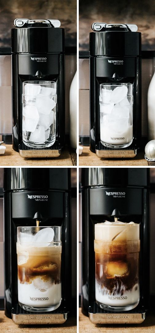 After a long day of exploring the city in the hot summer heat, cool off with a refreshing beverage. You can create coffee-shop quality iced coffee right at home with this Nespresso On Ice recipe. Simply fill up a Nespresso Vertuoline Recipe Glass with ice, add a splash of milk, and then press a button to brew a deliciously flavored iced coffee in minutes. It's a wonderful mid-day treat!