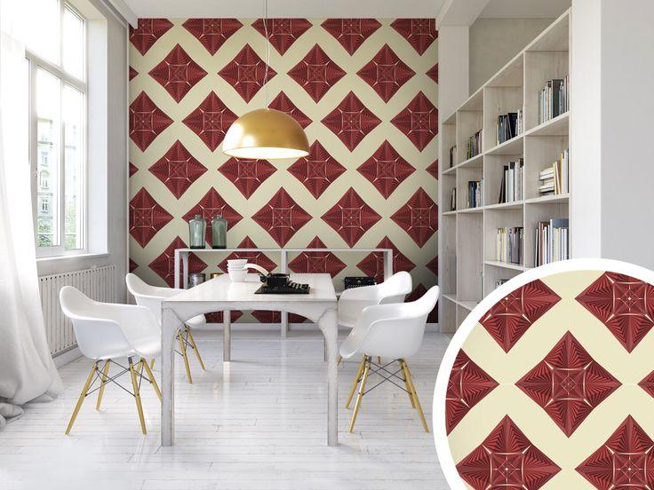 Papiers peints inspirés des mosaïques sont une idée idéale pour la décoration murale originale #papierspeints #papierpeint #mosaïque #homedecor #décorationsmurales #décomaison