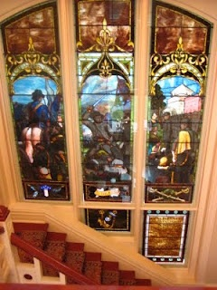 a Tiffany stained glass window right on the Ole Miss campus. Hiding in plain sight. It cost $500 in 1891, a gift from Delta Gamma sorority girls and generous alumni to honor the University Greys, a company of the 11th Mississippi Infantry in the Civil War – almost all of whom were students at the university when war began. Ole Miss had to close for the duration of the war, by the way; all the students were male and only four showed up that first year. The fact that most of the donations that…
