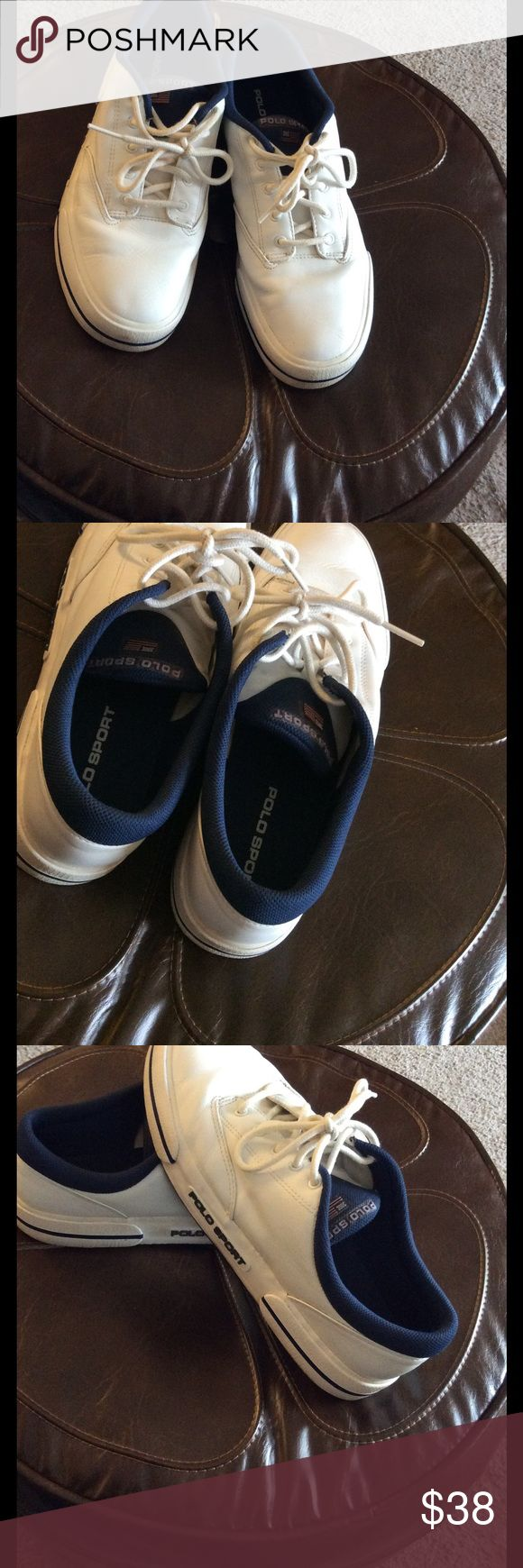 💞White leather man's shoes💞 Preowned in very good condition Polo by Ralph Lauren Shoes Boat Shoes