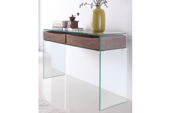 Console design en verre et bois Hartley