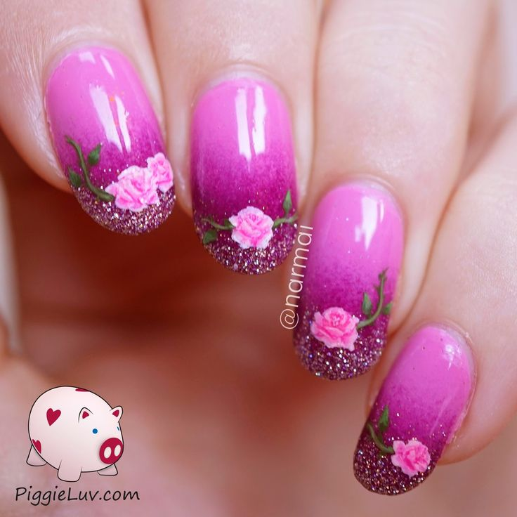 Rose Nail Art Tutorial: Valentine's Day Images On Pinterest