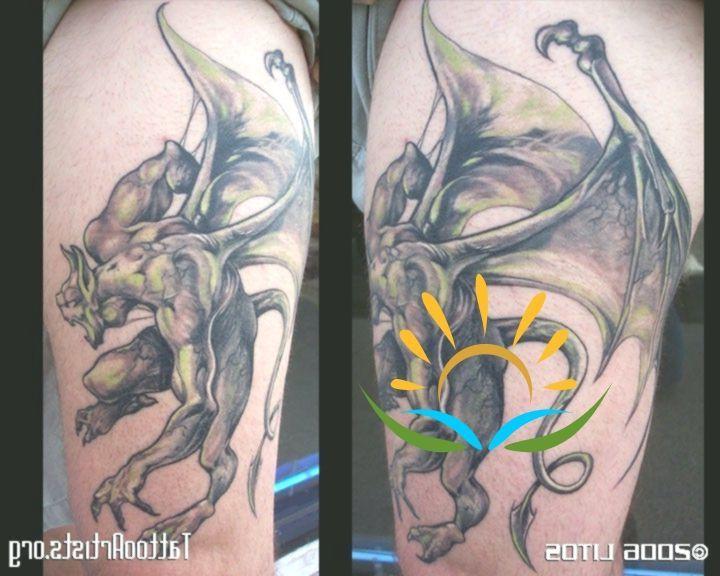 Gargoyle Tattoo Designs | Attractive Flying Gargoyle Tattoo Design #attrak … –