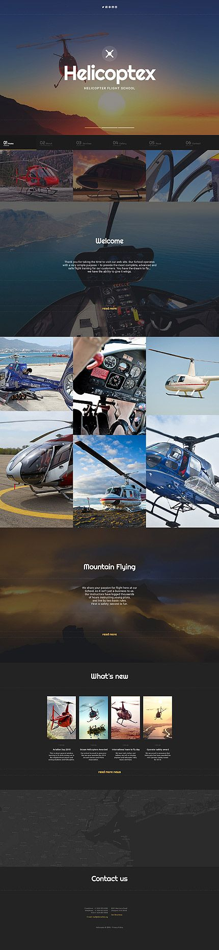 Template 58630 - Helicoptex Flight  Responsive Website Template