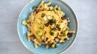 vegansk pasta med gresskar oppskrift