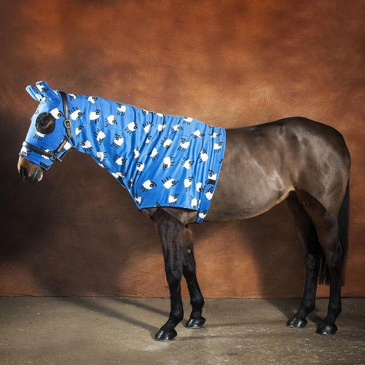Fleece horse hood from Snuggy Hoods. Sheep Horse Hoods