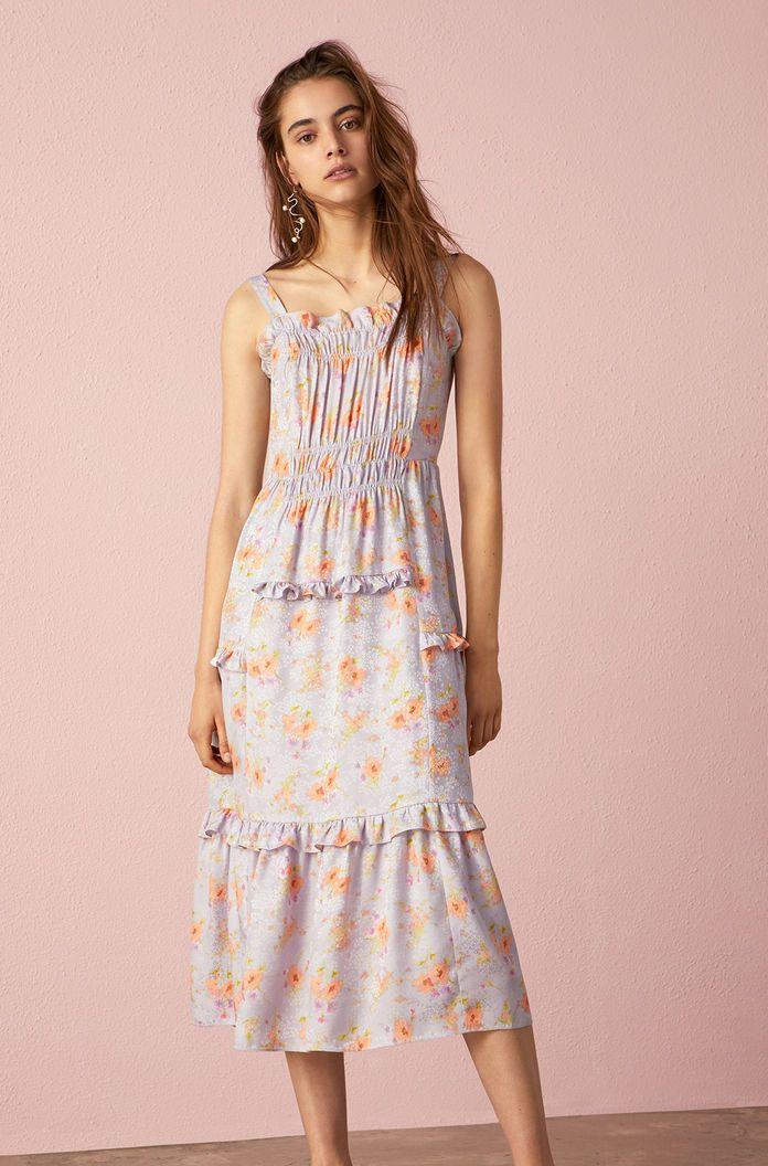 2f97cf7654a Emilia Print Silk Jacquard Tank Dress   Rebecca Taylor   Color Story ...