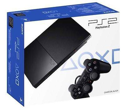 Sony Playstation 2 PS2 SLIM Charcoal Black Console (PS2 Gaming System) Brand NEW - http://videogamedevils.com/2014/02/02/sony-playstation-2-ps2-slim-charcoal-black-console-ps2-gaming-system-brand-new/