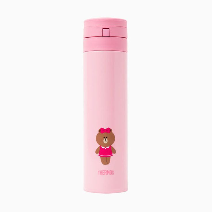 [New] THERMOS x LINE FRIENDS One Touch Open Type Choco Bottle (0.45L)