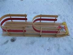Wooden Twin Baby Sled