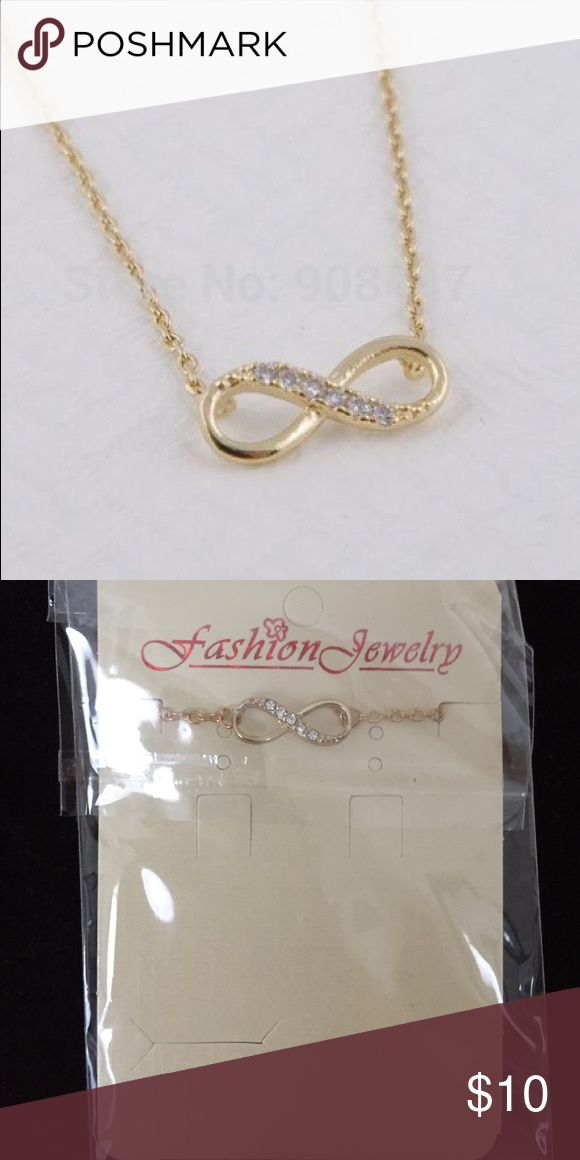 Infinity Necklace Gold if you want to save money bundle 3 items for 15% off other wise it's firm price Jewelry Necklaces