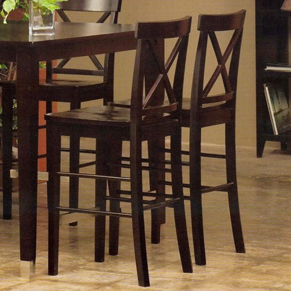 Alpine Furniture 173-02 Bayview Pub Chairs (Set of 2)