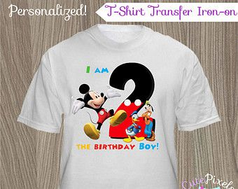 Mickey Mouse Clubhouse T-Shirt Transfer Iron On, Mickey Mouse Birthday, Mickey Mouse Clubhouse Party, Mickey Mouse T-Shirt, T-Shirt Decal