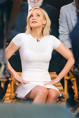 """Jennifer Lawrence on Good Morning America today! (x) """