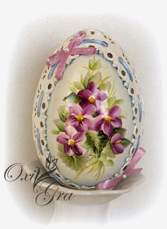 Vajíčko • decoupage a malba