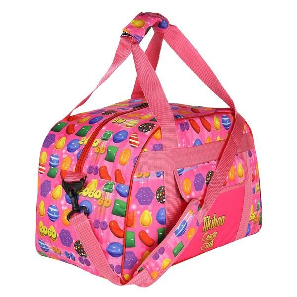 "Tikiboo Candy Crush Pink ""Gimme Some Sugar"" Gym Bag £39.99 #Activewear #Gymwear #FitnessLeggings #Leggings #Tikiboo #Running #Yoga  #GymBag #CancyCrush"