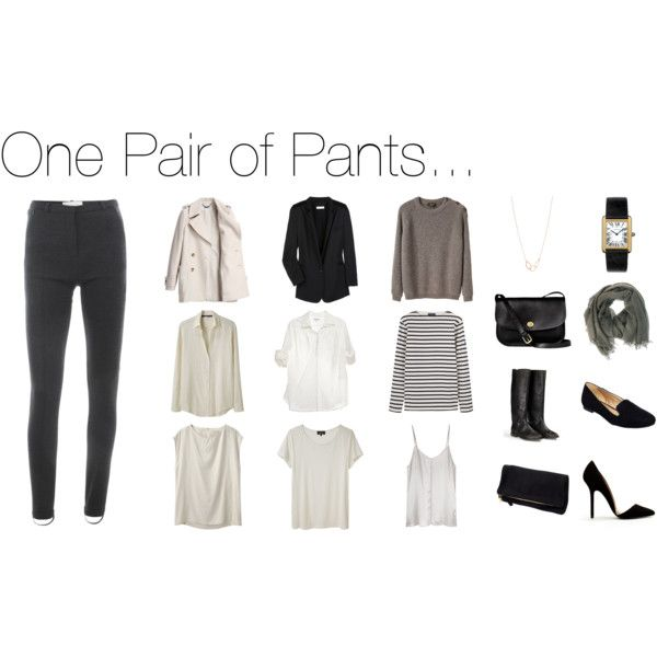 """""""One Pair of Pants"""" by keelyhenesey on Polyvore- I like this idea for work, pop it up with bright accessories"""