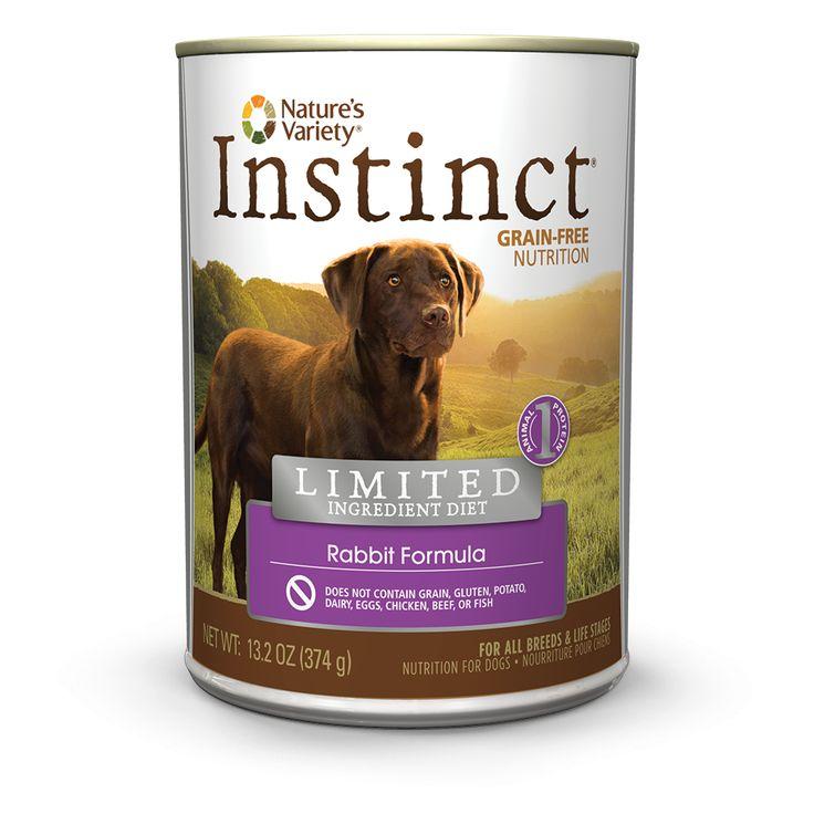 Instinct limited ingredient canned dog food rabbit wet