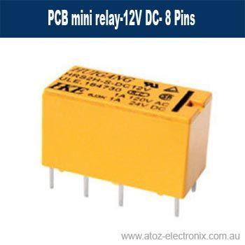PCB mini relay-12V DC- 8 Pins