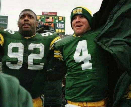 Reggie White and Brett Favre