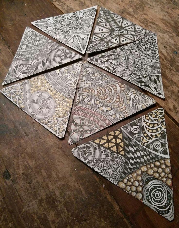 zentangle tile template - 28 best triangle zentangle images on pinterest zentangle