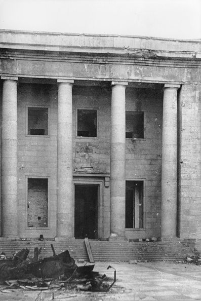 Damaged in air raids and the Battle of Berlin, Reich Chancellery - May 1945