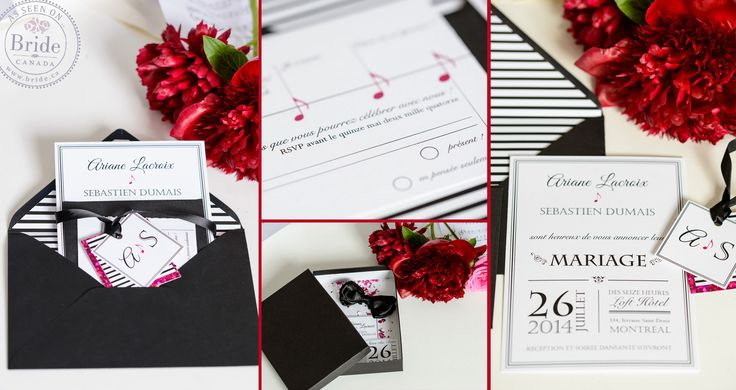 Sharp, contemporary stationary as seen on BRIDE.Canada by Laurie Art & Design
