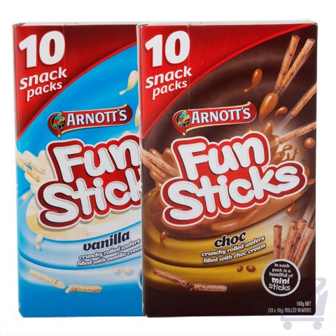 Assorted Fun Sticks  (Pack of 2) – Arnottt's – 180g x 2 | Shop Australia