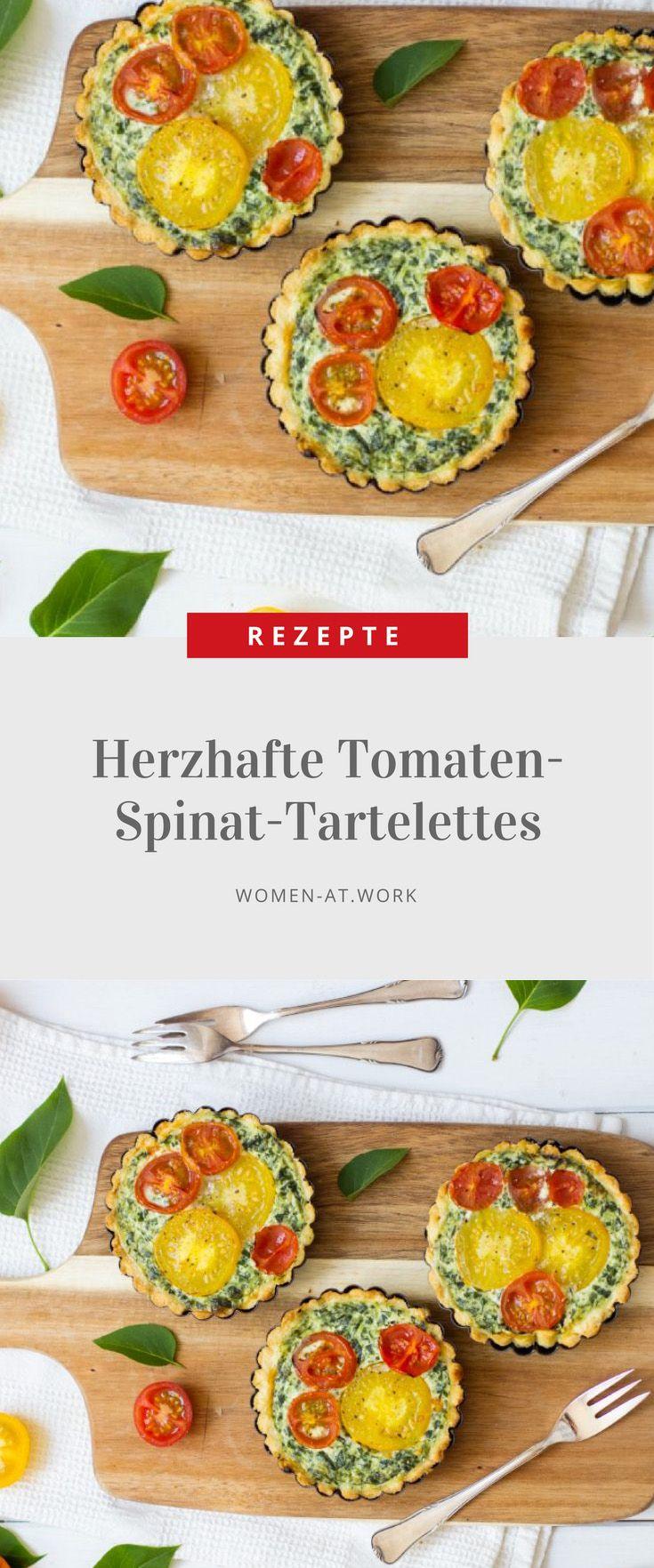 Herzhafte Tomaten-Spinat-Tartelettes