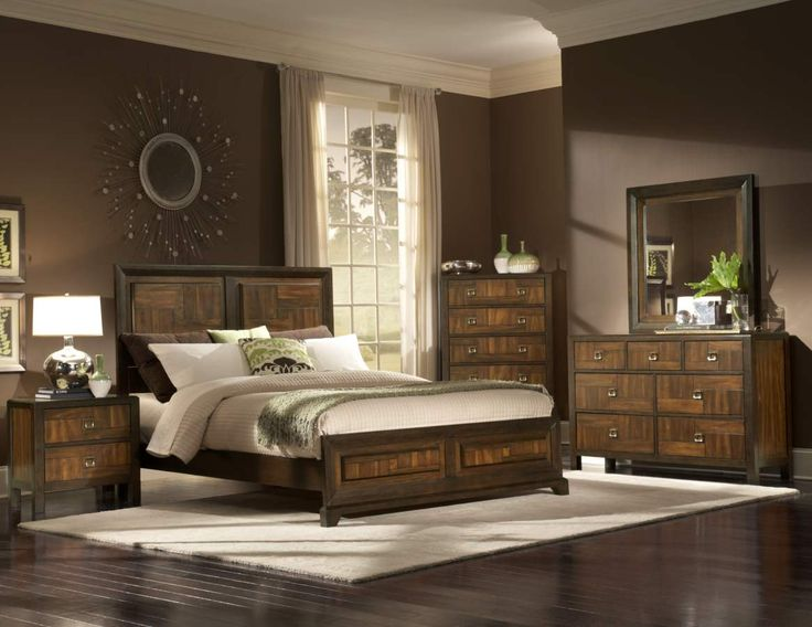 Latest Brumley Burnish Cherry Wood Metal Glass Master Bedroom Set Simple - Best of inexpensive bedroom sets In 2019