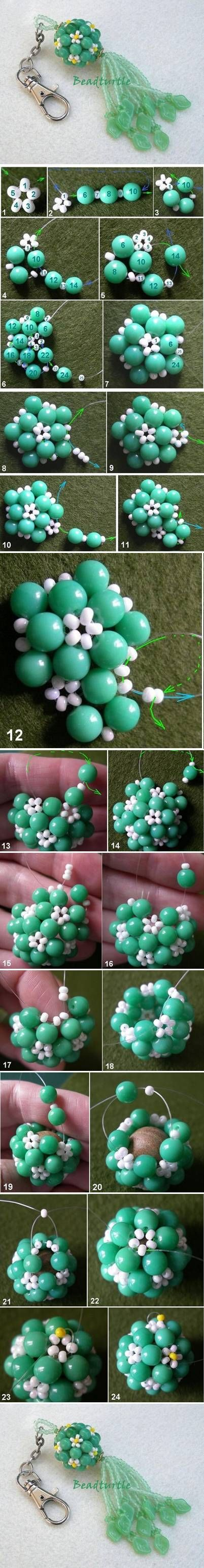 DIY Key Chain Beads Charm DIY Projects