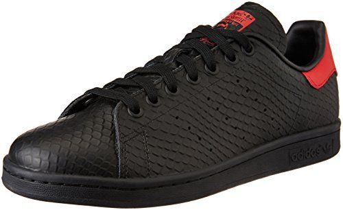 adidas Stan Smith, Gymnastique homme – Noir – Nero (Cblack/Cblack/Scarle), 44 EU: Tweet Baskets/Tennis adidas Stan Smith Serpent Noir Et…