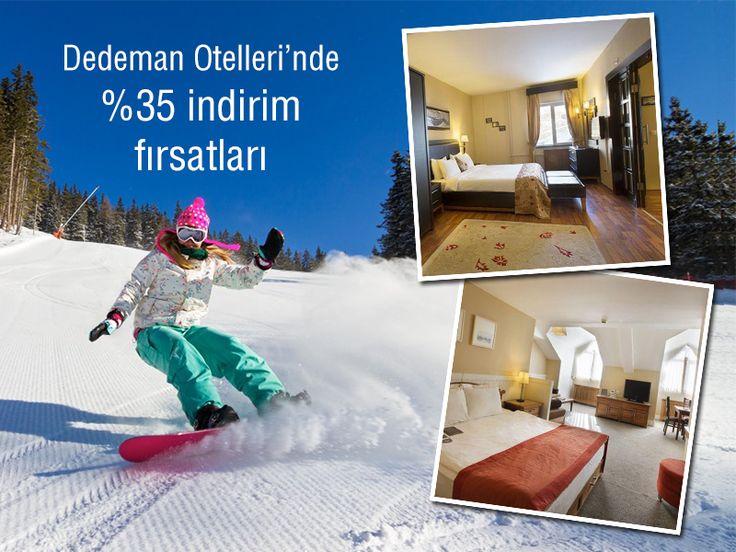 Erzurum'da kayak yaparak geçireceğiniz kış tatilinizi Dedeman Otelleri'nin konforlu ve sıcacık odaları ile tamamlayabilirsiniz. bit.ly/MNGTurizm-dedeman-otelleri-s