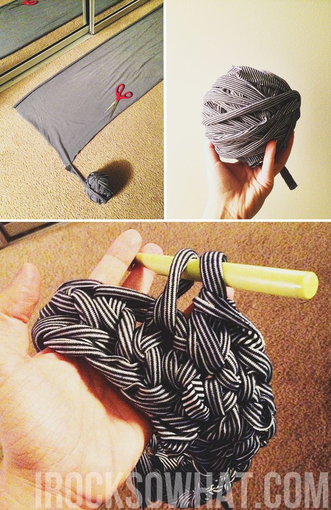 IROCKSOWHAT: How to Crochet Fabric - maybe crochet a rug??