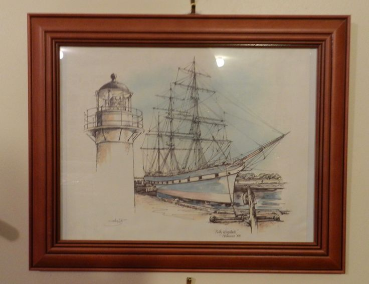 Pollywoodside Original Pen & Watercolour Drawing Framed