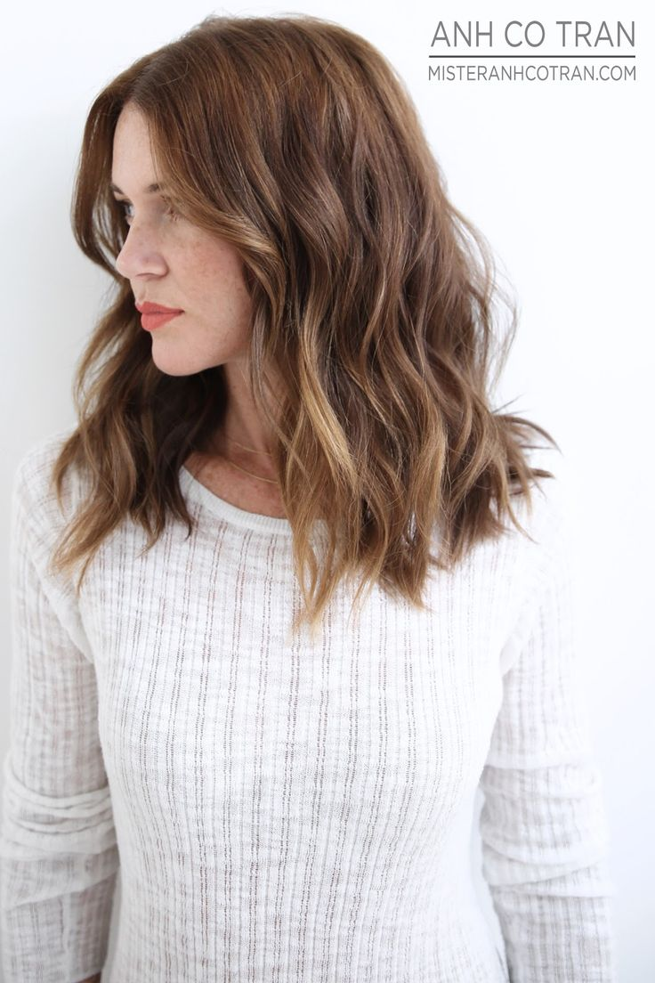 Best 25 medium wavy hair ideas on pinterest short wavy hair mid length hair with subtle color urmus Images