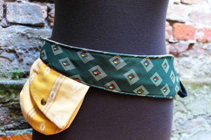 Riciclo creativo con le cravatte - Cintura o borsa?