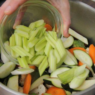 Párolt zöldségköret recept