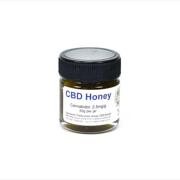 Purely Medicinal - CBD Honey - The Healing Hut Dispensary  Contains 2.5mg of Cannabidol (CBD) per gram of honey. 50g per jar.