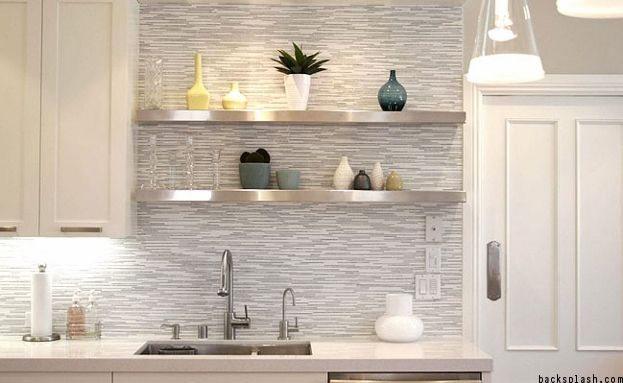 Gray tile — one of the 2017 Kitchen Countertop & Backsplash Trends
