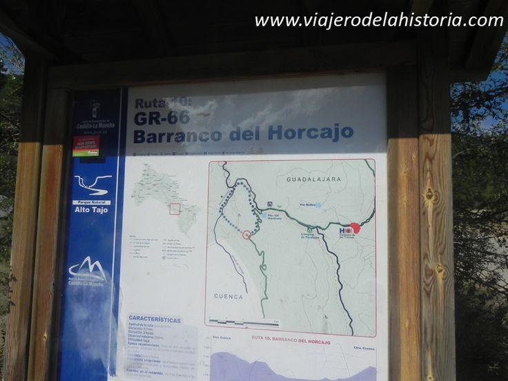imagen punto de inicio de senda del barranco del Horcajo, Alto Tajo, Guadalajara http://viajerodelahistoria.com/2014/09/15/parque-natural-del-alto-tajo-guadalajara/