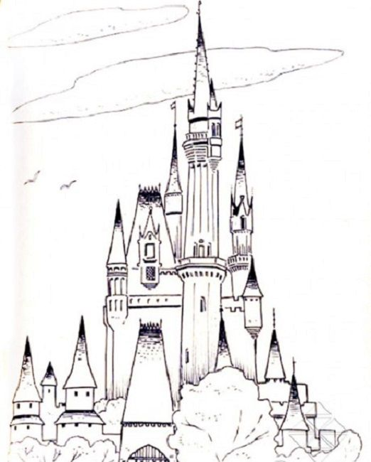 Disneyland Castle Coloring Pages Printable - Kitchen And Living ...