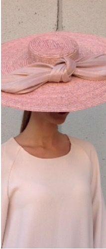 Pamela paja natural con lazo Sinamay seda
