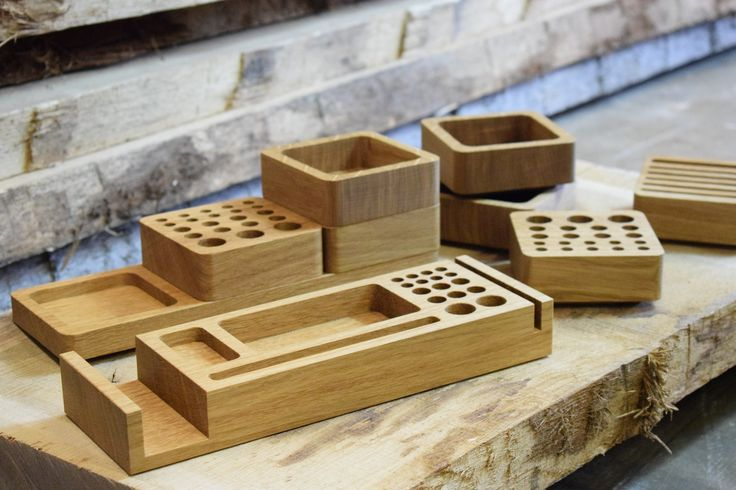 Our hand finished range of desk organisers are made from beautiful European Oak. Selected designs can also be personalised to make a unique gift, ideal for your Dad, Husband or colleague.