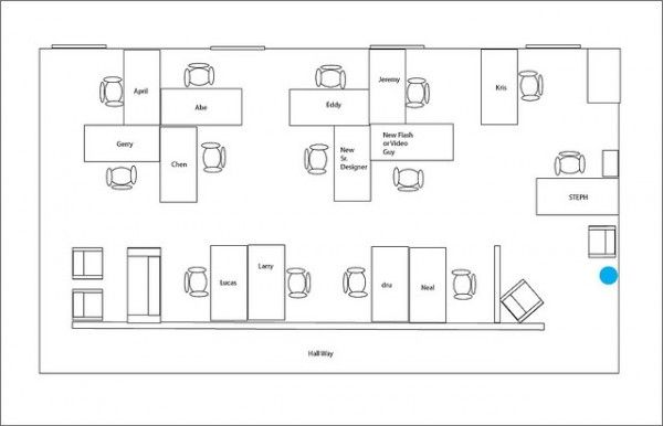 5 Highly Efficient Office Layouts | office | Office space