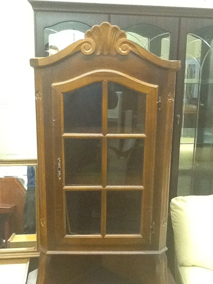 Solid red wood corner unit £150