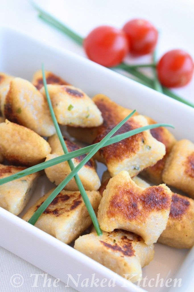 Garlic and Chive Potato Dumplings - these look good and could probably be baked